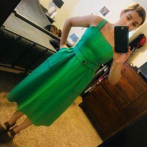 Vintage Green & Purple Summer Wrap Dress